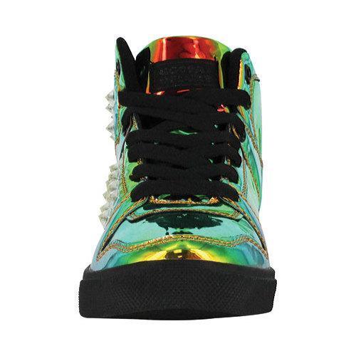 Women's Gotta Flurt Hip Hop HD III Sneaker Gasoline/Black Metallic Patent Pu - Thumbnail 2