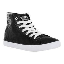 Women's Gotta Flurt Disco II Hi Sneaker Black Sequin/Pu