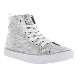 Women's Gotta Flurt Disco II Hi Sneaker Silver Sequin/Pu