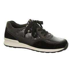 Women's ara Hollis 44526 Sneaker Black Leather/Suede Combo