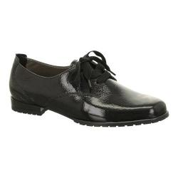 Women's ara Katherine 41243 Lace-Up Black Crinkle Patent