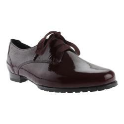 Women's ara Katherine 41243 Lace-Up Burgundy Crinkle Patent