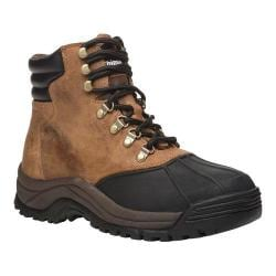 Men's Propet Blizzard Mid Zip Up Boot Brown/Black Leather