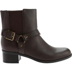 Women's Bandolino Clarkstown Ankle Boot Dark Cognac Multi Leather
