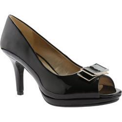 Women's Bandolino Sahana Peep Toe Black Synthetic