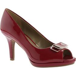 Women's Bandolino Sahana Peep Toe Red Synthetic