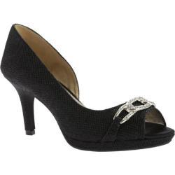 Women's Bandolino Serone Peep Toe Black Fabric