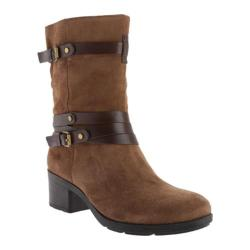 Women's Bandolino Ursal Boot Dark Natural/Dark Cognac Suede
