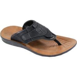 Men's Arider Cole-01 Thong Sandal Black Leather