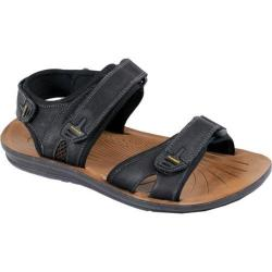 Men's Arider Cole-04 Adjustable Strap Sandal Black Leather