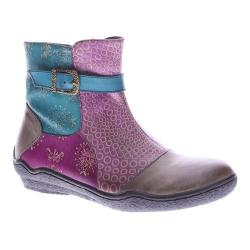 Women's L'Artiste by Spring Step Indigo Ankle Boot Taupe Multi Leather