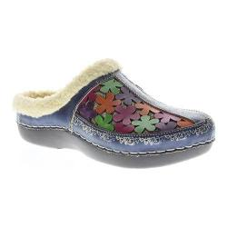 Women's L'Artiste by Spring Step Woodbine Clog Navy Multi Leather