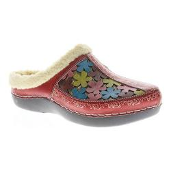 Women's L'Artiste by Spring Step Woodbine Clog Red Multi Leather