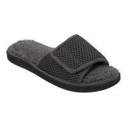 Men's Dearfoams Adjustable Mesh Slide Slipper with Pile Sock Magnet