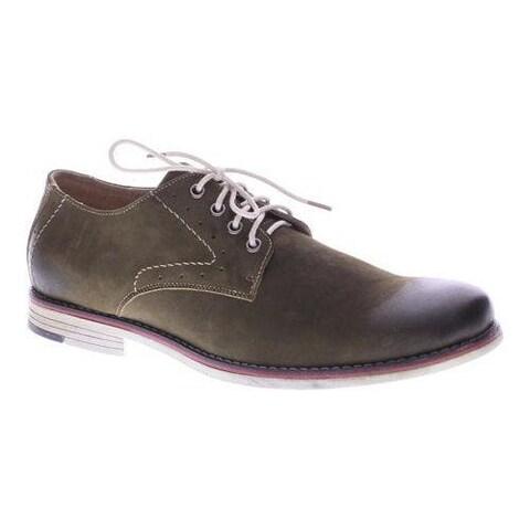 Men's Spring Step Montenegro Oxford Olive Nubuck Leather