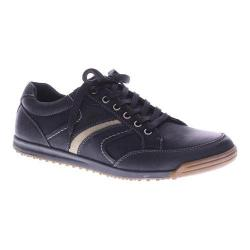 Men's Spring Step Mora Lace Up Black Nubuck Leather