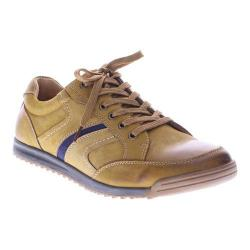 Men's Spring Step Mora Lace Up Mustard Nubuck Leather
