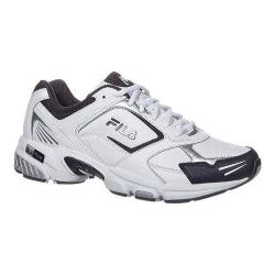 Men's Fila Decimus 3 White/Fila Navy/Metallic Silver