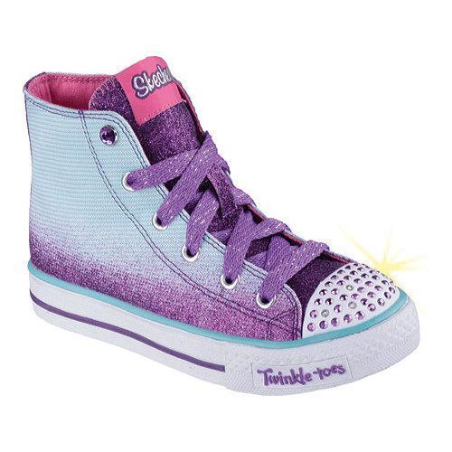 025b1d8793c6 Thumbnail Girls  x27  Skechers Twinkle Toes Shuffles Splendorific Turquoise  Purple ...