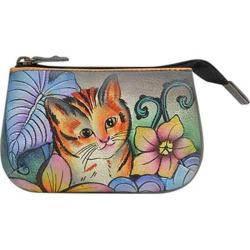 Women's Anuschka Medium Coin Purse Cats in Wonderland
