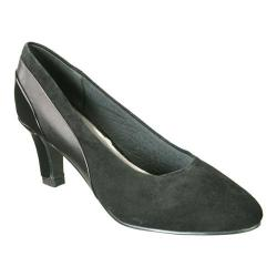 Women's David Tate Sexy Black Kid/Suede/Patent
