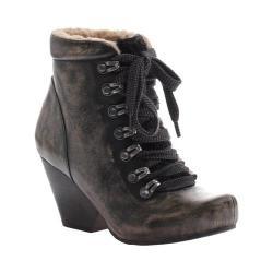 Women's OTBT Ritchie Lace up Bootie Beige Black Leather