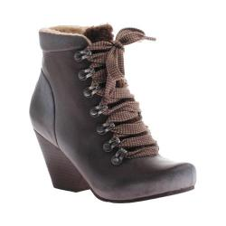 Women's OTBT Ritchie Lace up Bootie Dark Brown Leather