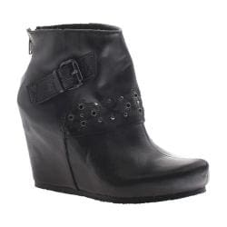 Women's OTBT Robertson Wedge Bootie Black Leather