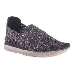 Women's OTBT Sellwood Woven Slip-on White Black Fabric