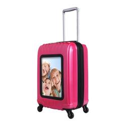 Selfie Club 'Picture Frame' Pink 20-inch Carry On Hardside Spinner Suitcase