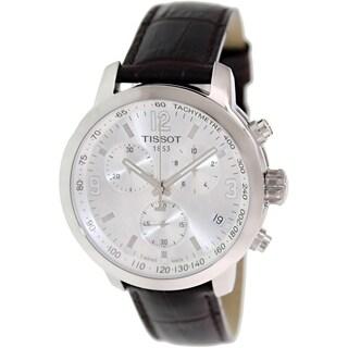 Tissot Men's Prc 200 T055.417.16.037.00 Brown Leather Swiss Quartz Watch