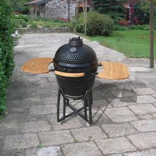 Corvus Kipling 21-inch Kamado Style Black Charcoal BBQ Grill|https://ak1.ostkcdn.com/images/products/9303105/P16464778.jpg?impolicy=medium