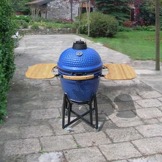 Corvus Deluxe 21-inch Kamado Style Blue BBQ Grill