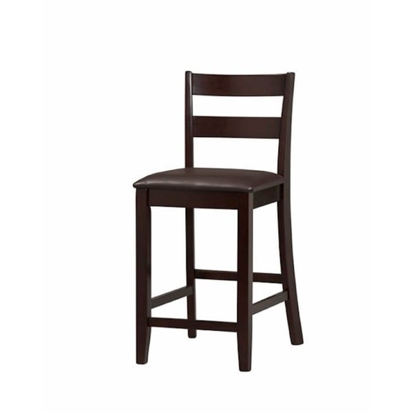 Linon Piedmont Tribeca Espresso Wood Counter Stool Free