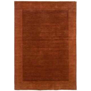 LNR Home Loom Seridian Solid Rust Runner Area Rug (7'9 x 9'9)