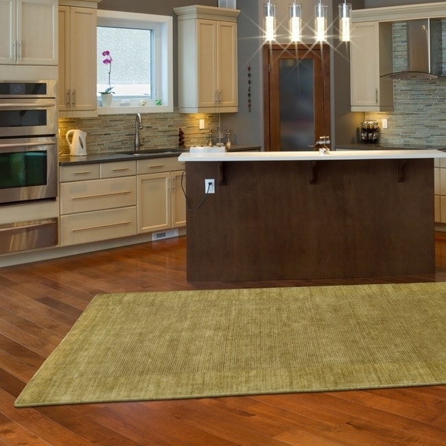 LR Resources LNR Home Loom Seridian Solid Olive Area Rug ...