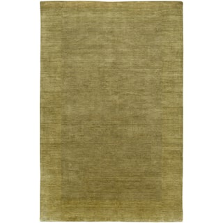 LNR Home Loom Seridian Solid Olive Area Rug (7'9 x 9'9) - 7'9 x 9'9