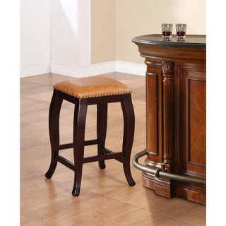 Linon Pinnacle Backless Counter Stool Dusty Brown Seat