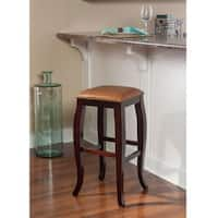 Linon Pinnacle Backless Bar Stool Caramel Seat