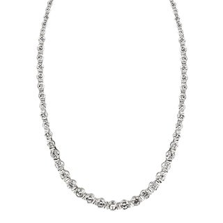 Icz Stonez Sterling Silver 32ct TGW Cubic Zirconia 17-inch Necklace