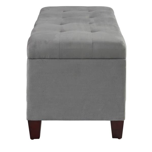 Wondrous Shop Clay Alder Home Riley Grey Tufted Flip Top Ottoman With Ncnpc Chair Design For Home Ncnpcorg