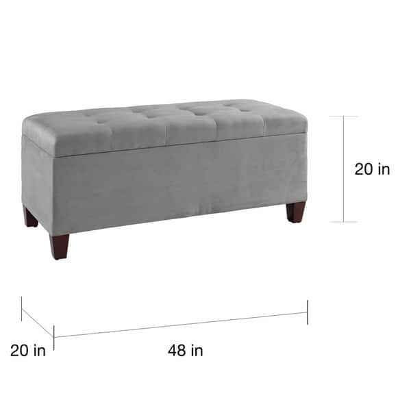 Outstanding Shop Clay Alder Home Riley Grey Tufted Flip Top Ottoman With Caraccident5 Cool Chair Designs And Ideas Caraccident5Info