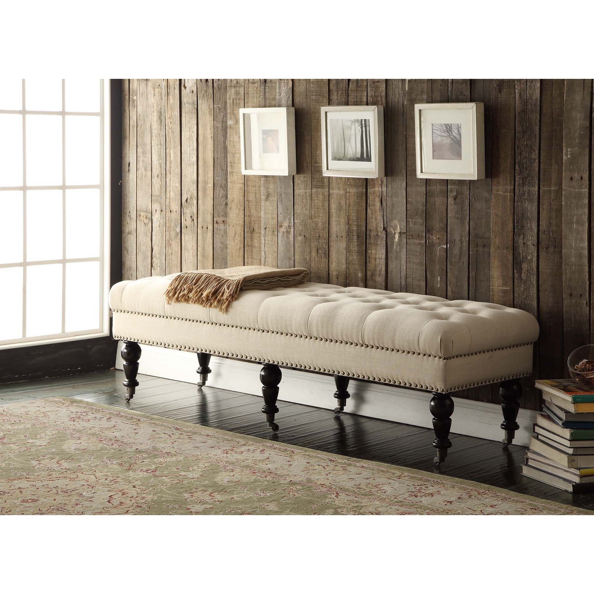 Copper Grove Mendocino 62-inch Linen Tufted Bench