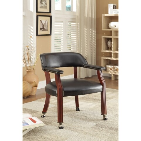 Coaster Company Black Caster Wheel Guest Chair
