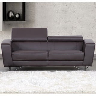 Edam Chocolate Contemporary Leather Sofa