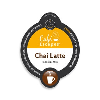 Cafe Escapes Chai Latte Specialty, Vue Cup Portion Pack for Keurig Vue Brewing Systems