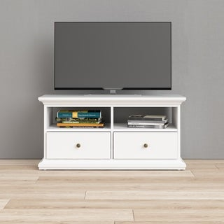 Link to Porch & Den Virginia 41-inch White TV Stand Similar Items in TV Stands & Entertainment Centers