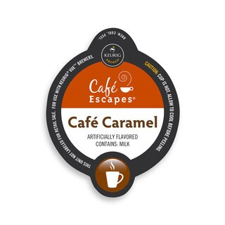Cafe Escapes Cafe Caramel Specialty, Vue Cup Portion Pack for Keurig Vue Brewing Systems