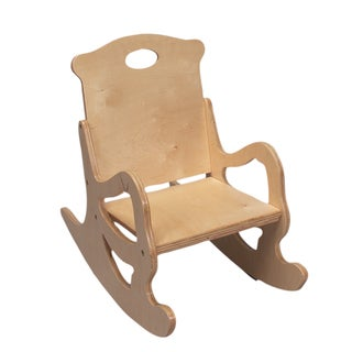 Gift Mark Home Adult Natural Resting Single Seat Puzzle Rocking Chair