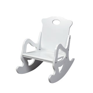Gift Mark Home Resting Single Seat White Puzzle Rocking Chair